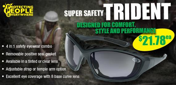 Super Safety Trident Safety Glasses